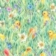 Happy Easter Seamless Pattern With Green Grass