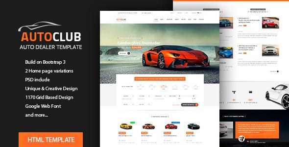 Auto Club - Car Dealer HTML Theme