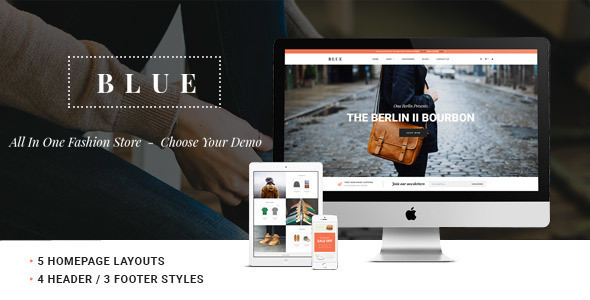 Image of Leo Blue Responsive Prestashop Theme
