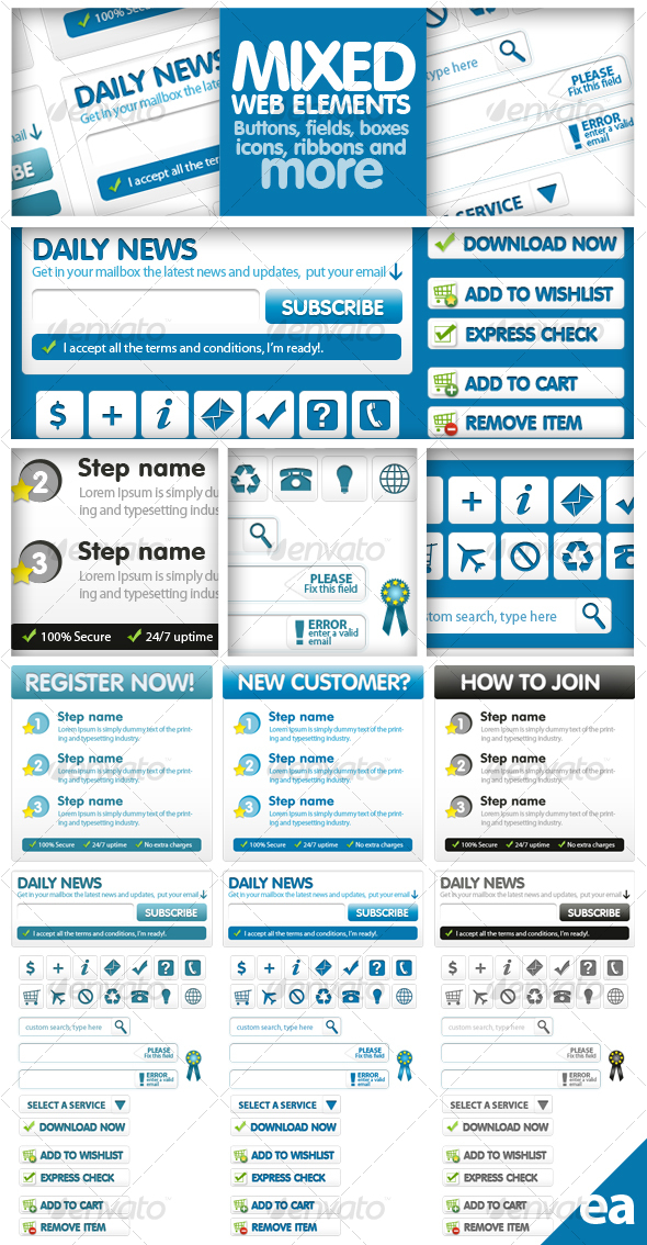 GraphicRiver Mixed Web Elements 58354