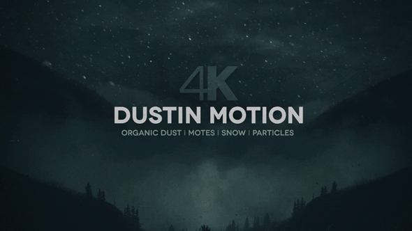 Dust in Motion 4K Motes Particles Snow