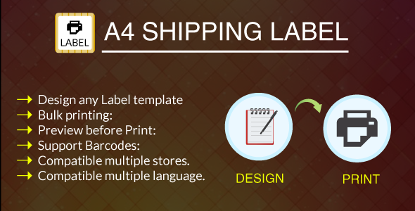 A4 Print Shipping Label Module