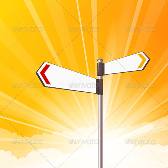 GraphicRiver Blank Destination Signs 1475973