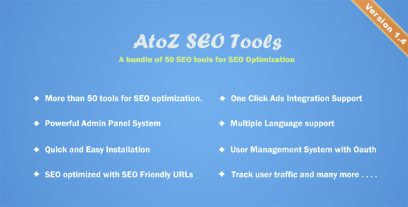 Download AtoZ SEO Tools - Search Engine Optimization Tools nulled download