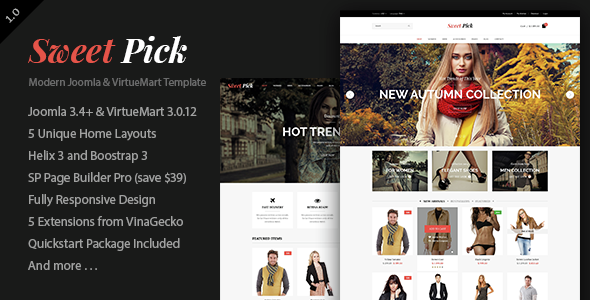 Image of Vina SweetPick - Modern eCommerce VirtueMart Joomla Template