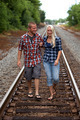 Young Couple on Railroad tracks - PhotoDune Item for Sale