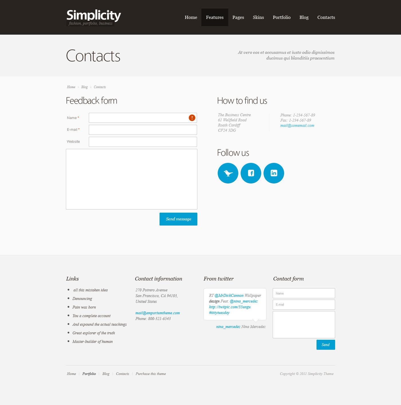 Simplicity - HTML/CSS Theme