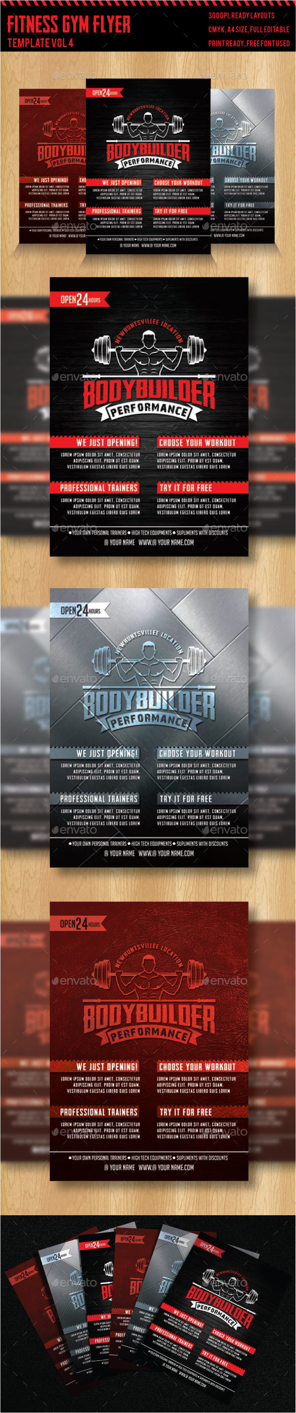 Fitness - Gym Flyer Templates 4