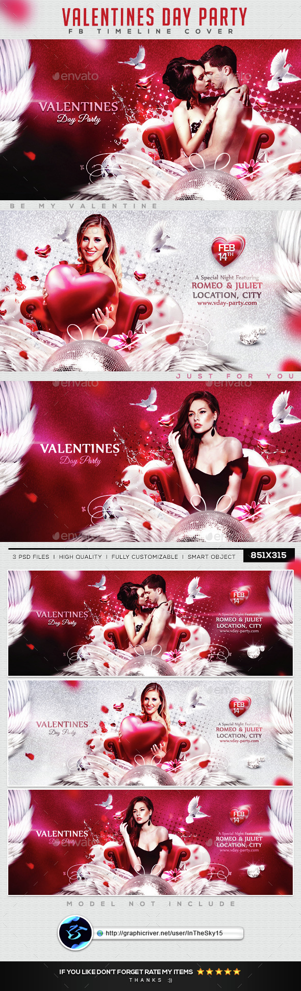 Valentines Day Party FB Timeline Cover