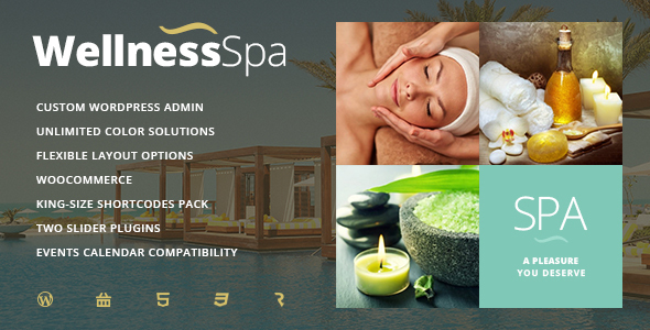 Wellness SPA - Resort, SPA & Beauty Salon WordPress Theme