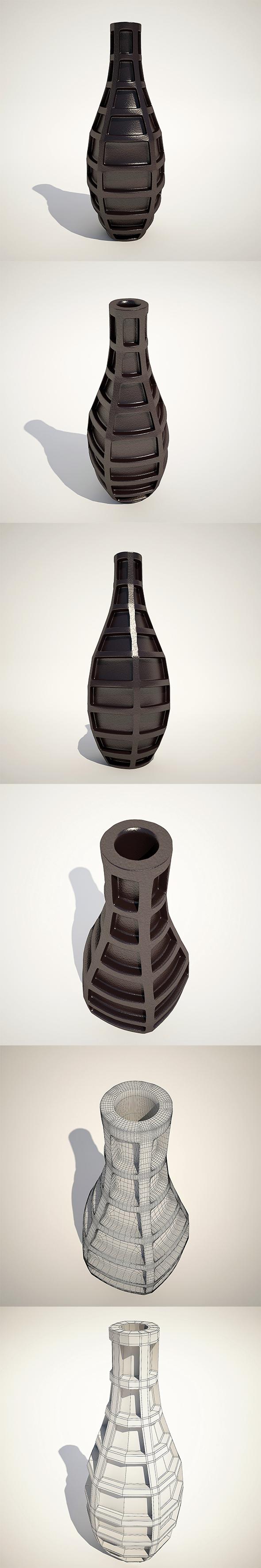 Vase Grid Blue 43cm Kare Design - 3DOcean Item for Sale