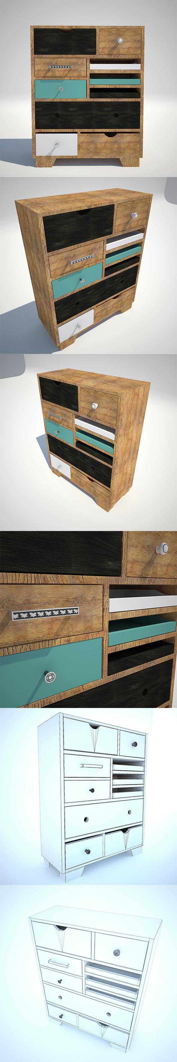 Chest Kare Design BABALOU EU 10 3D - 3DOcean Item for Sale