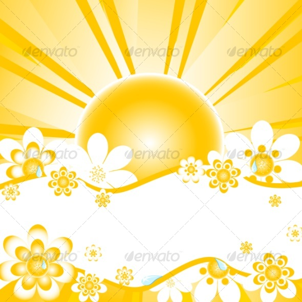 GraphicRiver vector illustration of summer background 58408