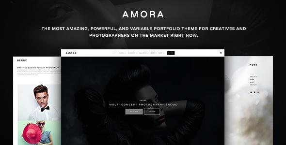 19 - Amora - Creative Responsive Multi-Concept Theme