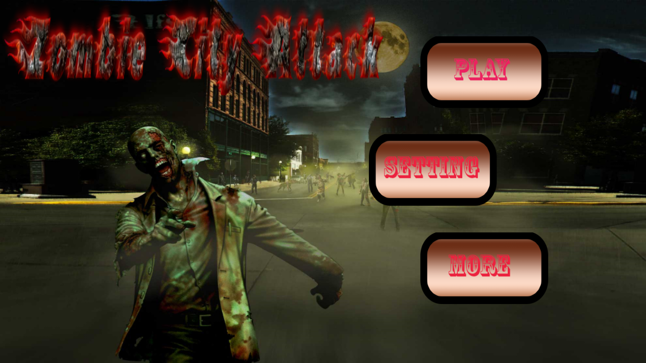 Free download Codecanyon - Zombie City Attack 3D Game