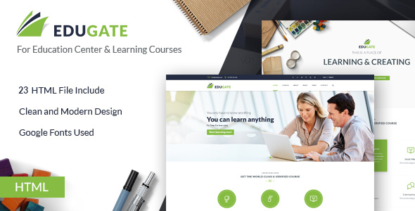 25. EduGate - Multiconcept Education HTML template