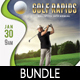 3 Golf Event Poster And Banners Bundle