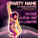 Night Club Poster, neon girl, 8.5x11 inches - GraphicRiver Item for Sale