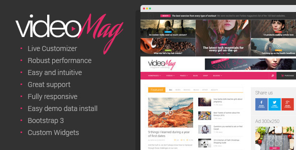 Download VideoMag - Magazine Videoblog Theme nulled download