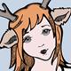 T-Shirt Illustration Girl Deer Theme
