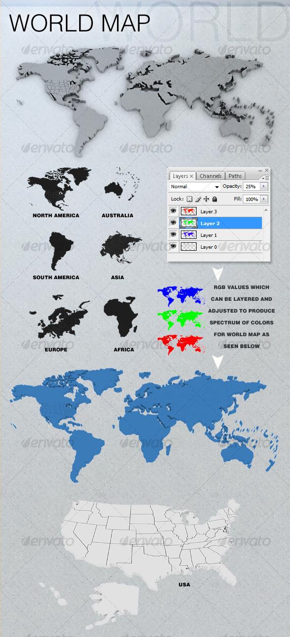 3D World Map s