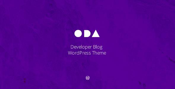 ODA — Developer's Blog WordPress Theme
