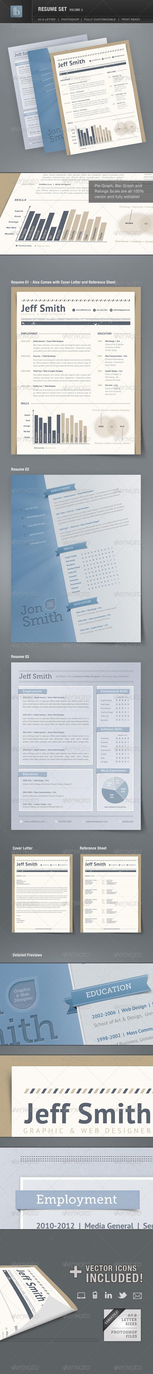 GraphicRiver Resume Set Volume 2 1479087