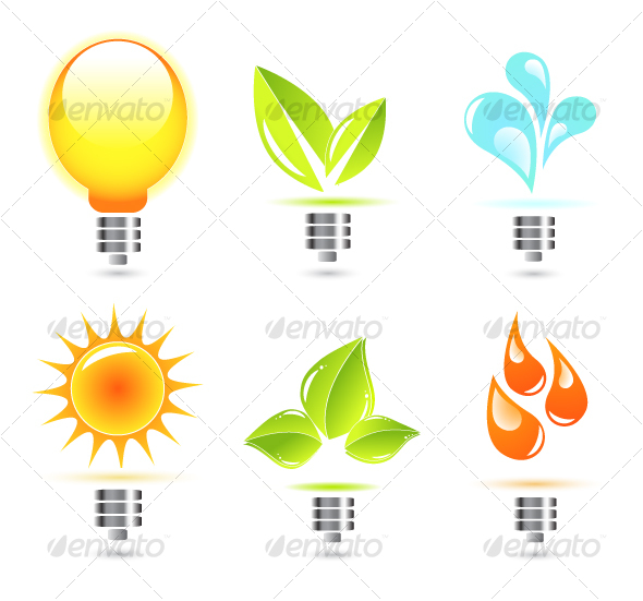 GraphicRiver Nature in electricity Icons 58464