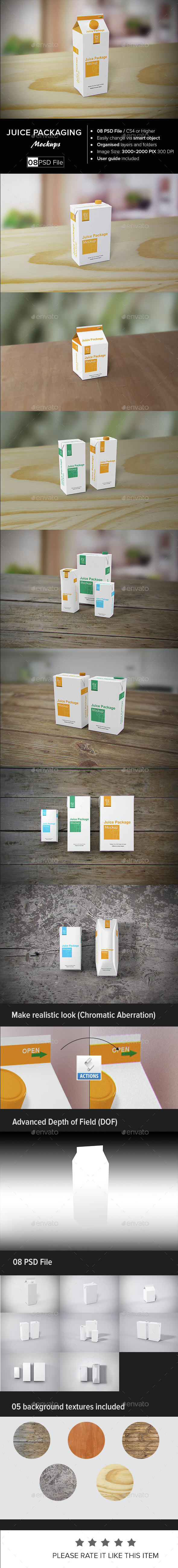 Juice Packaging Mock-up