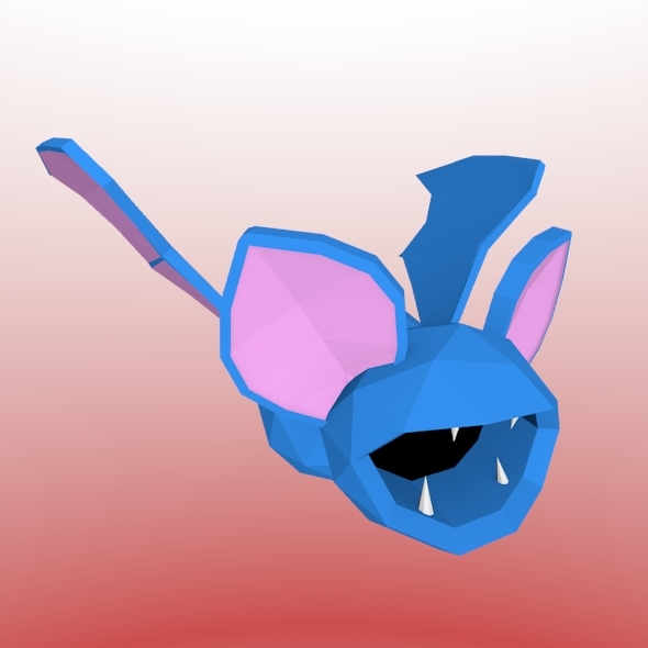Low poly bat - 3DOcean Item for Sale
