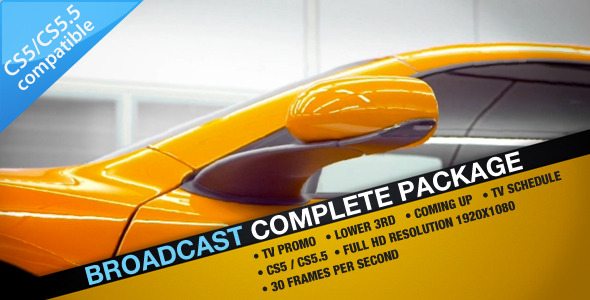 After Effects Project - VideoHive Broadcast Complete Package 1479337