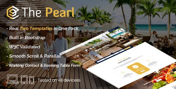 Pearl - Hotel & Restaurant Template