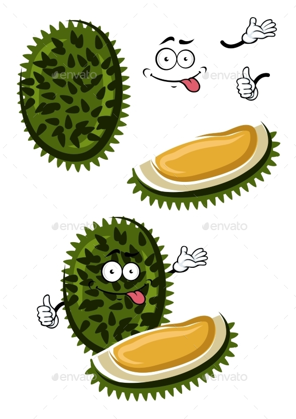 Tropical Smelly Cartoon Durian Fruit