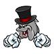 Angry Bulldog Mascot