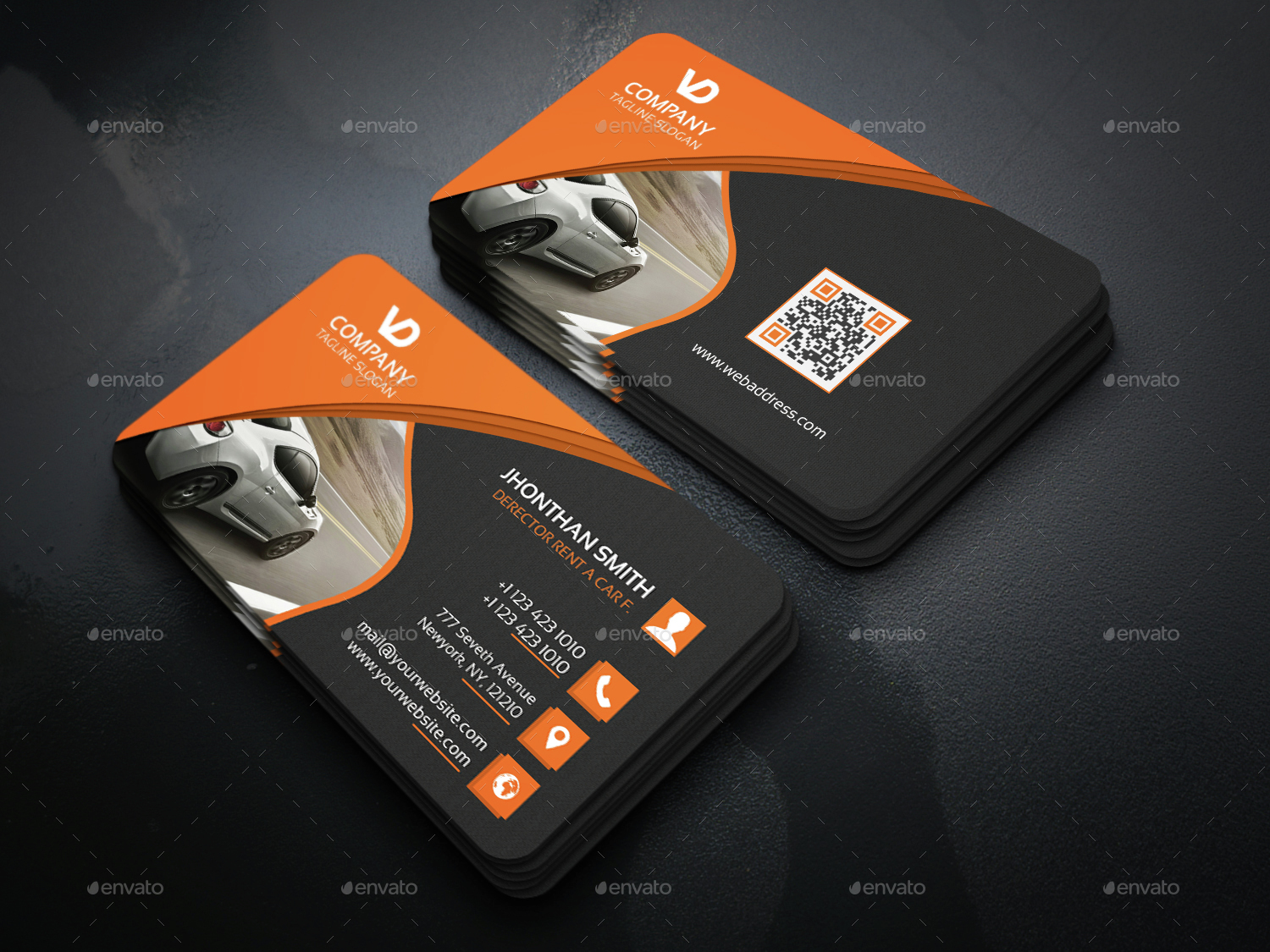 Sample Business Cards For Car Rental Image collections - Card Design ...