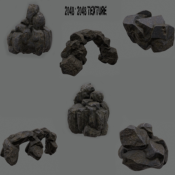 Mountain_Rock_Set - 3DOcean Item for Sale