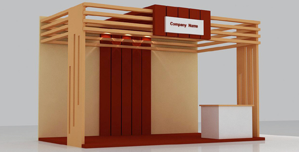 Stall 3d Model - 3DOcean Item for Sale