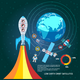 Colorful Space And Astronomy Infographics