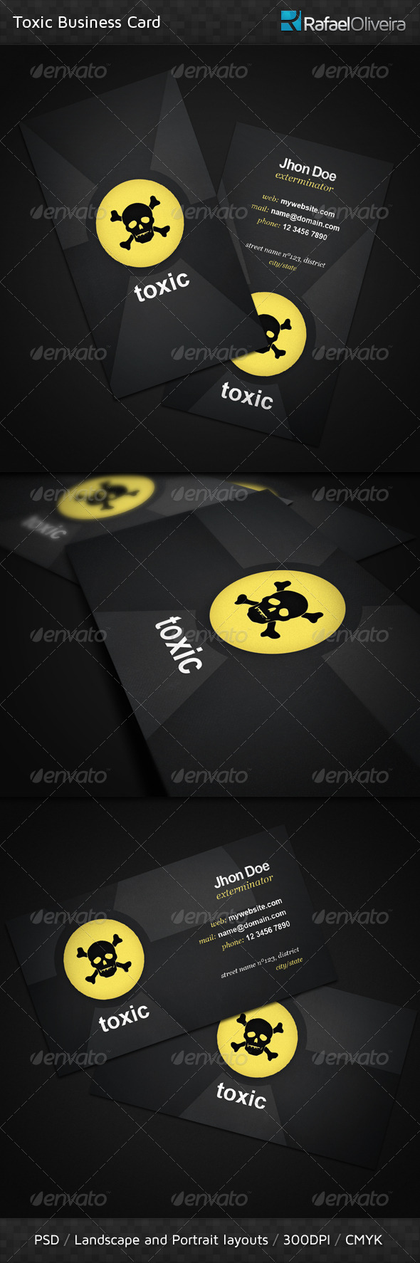 Toxic Business Card - Creative Business Cards
