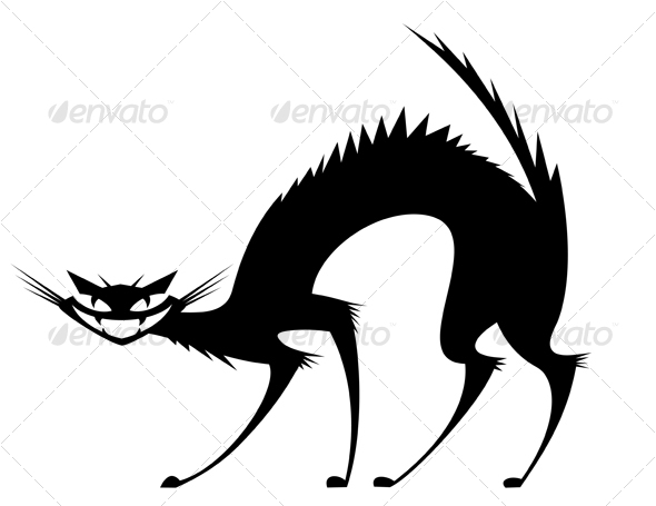 Graphic River Black wild cat Vectors -  Characters  Animals 58507