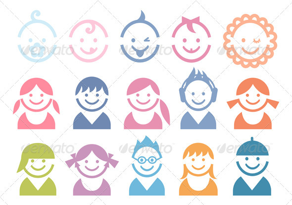 GraphicRiver Baby And Children Faces 1480754