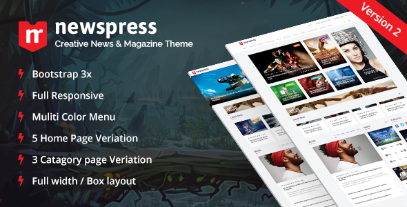 NewsPress - Bootstrap News / Magazine Template