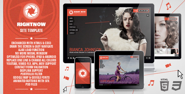 ThemeForest Right Now Full Video Image with Audio 1480953