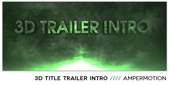 After Effects Project - VideoHive 3D Title Trailer Intro 1480966