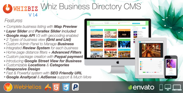 Download WhizBiz - Business Directory CMS nulled download