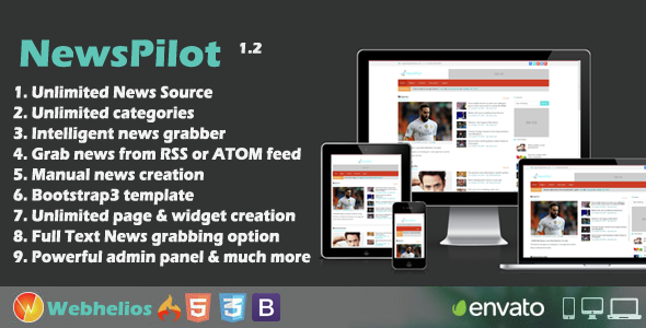 Download NewsPilot - Autopilot News Script  nulled download