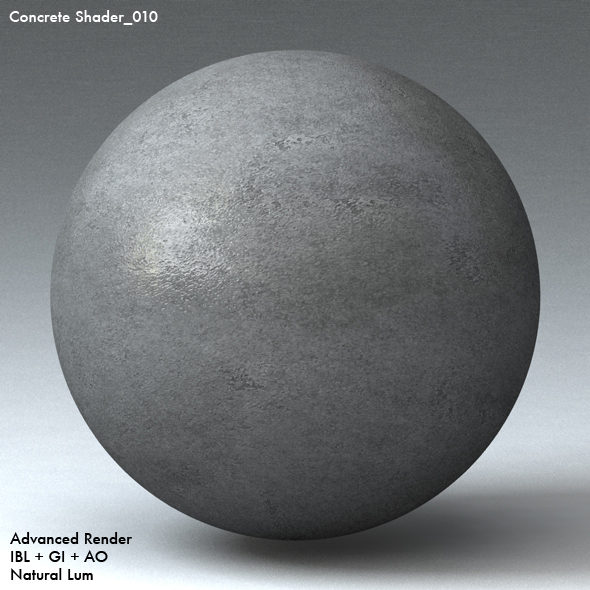 Concrete Shader_010 - 3DOcean Item for Sale