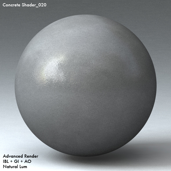 Concrete Shader_020 - 3DOcean Item for Sale