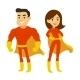 Superhero Man and Woman