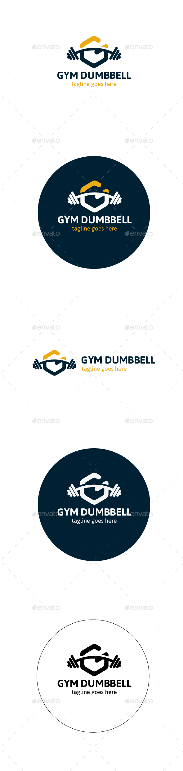 Gym Dumbbell Logo